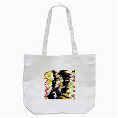 Canvas Acrylic Digital Design Art Tote Bag (white) by Amaryn4rt