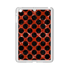 Circles2 Black Marble & Red Marble (r) Apple Ipad Mini 2 Case (white) by trendistuff