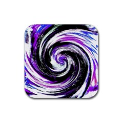 Canvas Acrylic Digital Design Rubber Coaster (Square)  by Amaryn4rt