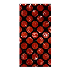 Circles2 Black Marble & Red Marble Shower Curtain 36  X 72  (stall) by trendistuff