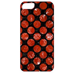 Circles2 Black Marble & Red Marble Apple Iphone 5 Classic Hardshell Case