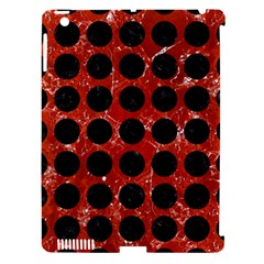 Circles1 Black Marble & Red Marble (r) Apple Ipad 3/4 Hardshell Case (compatible With Smart Cover) by trendistuff