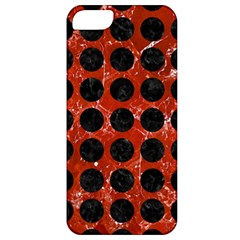 Circles1 Black Marble & Red Marble (r) Apple Iphone 5 Classic Hardshell Case