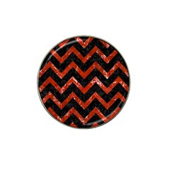 Chevron9 Black Marble & Red Marble Hat Clip Ball Marker (10 Pack) by trendistuff