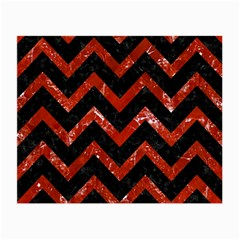 Chevron9 Black Marble & Red Marble Small Glasses Cloth by trendistuff