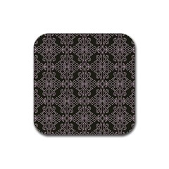 Line Geometry Pattern Geometric Rubber Square Coaster (4 Pack)  by Amaryn4rt