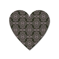 Line Geometry Pattern Geometric Heart Magnet by Amaryn4rt