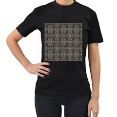 Line Geometry Pattern Geometric Women s T Shirt (black) (two Sided)