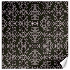 Line Geometry Pattern Geometric Canvas 12  X 12   by Amaryn4rt
