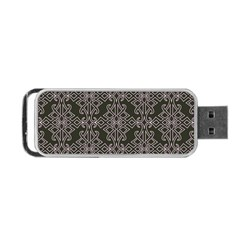 Line Geometry Pattern Geometric Portable Usb Flash (two Sides)