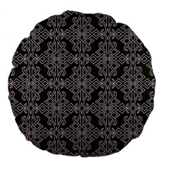 Line Geometry Pattern Geometric Large 18  Premium Flano Round Cushions by Amaryn4rt