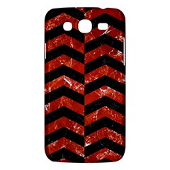 Chevron2 Black Marble & Red Marble Samsung Galaxy Mega 5 8 I9152 Hardshell Case  by trendistuff