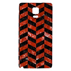 Chevron1 Black Marble & Red Marble Samsung Note 4 Hardshell Back Case by trendistuff