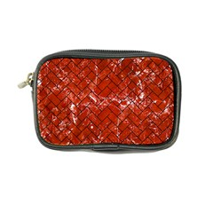 Brick2 Black Marble & Red Marble (r) Coin Purse by trendistuff