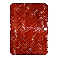 Brick2 Black Marble & Red Marble (r) Samsung Galaxy Tab 4 (10 1 ) Hardshell Case