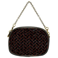 Brick2 Black Marble & Red Marble Chain Purse (two Sides) by trendistuff