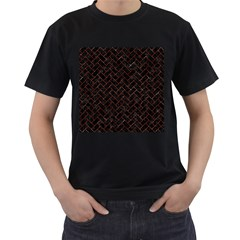 Brick2 Black Marble & Red Marble Men s T Shirt (black) by trendistuff