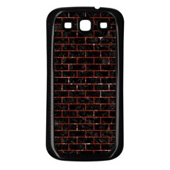 Brick1 Black Marble & Red Marble Samsung Galaxy S3 Back Case (black)