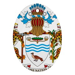 Coat Of Arms Of Guyana Oval Ornament (two Sides) by abbeyz71