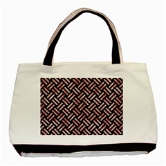 Woven2 Black Marble & Red & White Marble Basic Tote Bag