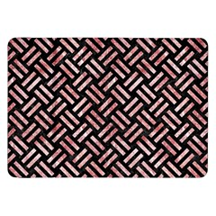 Woven2 Black Marble & Red & White Marble Samsung Galaxy Tab 8 9  P7300 Flip Case by trendistuff