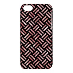 Woven2 Black Marble & Red & White Marble Apple Iphone 5c Hardshell Case by trendistuff