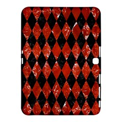 Diamond1 Black Marble & Red Marble Samsung Galaxy Tab 4 (10 1 ) Hardshell Case  by trendistuff