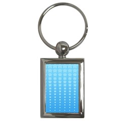 Blue Stars Background Key Chains (rectangle)  by Jojostore