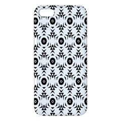Black White Flower Apple Iphone 5 Premium Hardshell Case by Jojostore