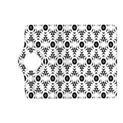 Black White Flower Kindle Fire Hd (2013) Flip 360 Case by Jojostore
