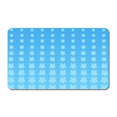 Blue Stars Background Line Magnet (rectangular) by Jojostore