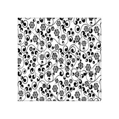 Black White Floral Acrylic Tangram Puzzle (4  X 4 ) by Jojostore