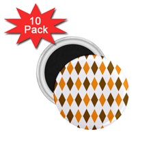 Brown Orange Retro Diamond Copy 1 75  Magnets (10 Pack)  by Jojostore