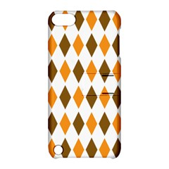 Brown Orange Retro Diamond Copy Apple Ipod Touch 5 Hardshell Case With Stand by Jojostore