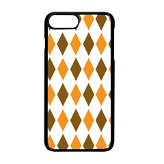 Brown Orange Retro Diamond Copy Apple Iphone 7 Plus Seamless Case (black) by Jojostore