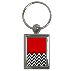 Chevron Red Key Chains (rectangle)  by Jojostore