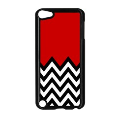 Chevron Red Apple Ipod Touch 5 Case (black) by Jojostore