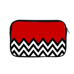 Chevron Red Apple Macbook Pro 13  Zipper Case by Jojostore