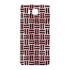 Woven1 Black Marble & Red & White Marble (r) Samsung Galaxy Alpha Hardshell Back Case by trendistuff