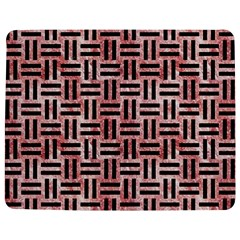 Woven1 Black Marble & Red & White Marble (r) Jigsaw Puzzle Photo Stand (rectangular) by trendistuff