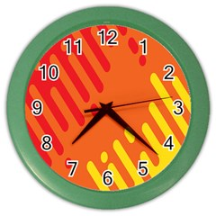 Color Minimalism Red Yellow Color Wall Clocks by Jojostore
