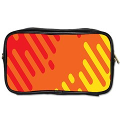 Color Minimalism Red Yellow Toiletries Bags 2 Side by Jojostore