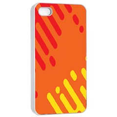 Color Minimalism Red Yellow Apple Iphone 4/4s Seamless Case (white) by Jojostore