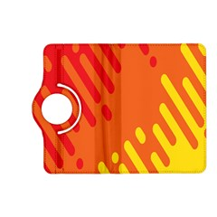 Color Minimalism Red Yellow Kindle Fire Hd (2013) Flip 360 Case by Jojostore