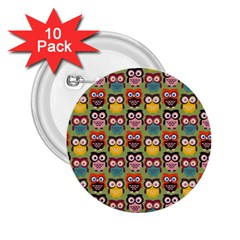 Eye Owl Colorful Cute Animals Bird Copy 2 25  Buttons (10 Pack)  by Jojostore
