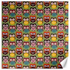 Eye Owl Colorful Cute Animals Bird Copy Canvas 16  X 16   by Jojostore