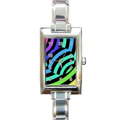 Colorful Roulette Ball Rectangle Italian Charm Watch by Jojostore