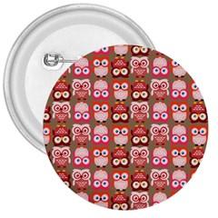 Eye Owl Colorfull Pink Orange Brown Copy 3  Buttons by Jojostore