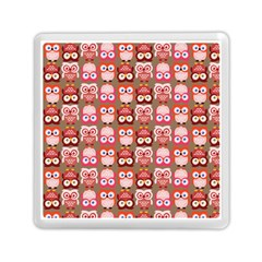 Eye Owl Colorfull Pink Orange Brown Copy Memory Card Reader (square)  by Jojostore