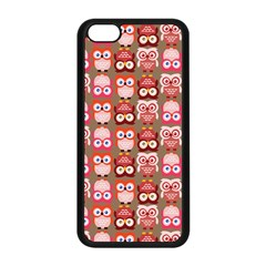 Eye Owl Colorfull Pink Orange Brown Copy Apple Iphone 5c Seamless Case (black) by Jojostore